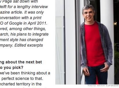 Entrevista com Larry Page, do Google, na Fortune