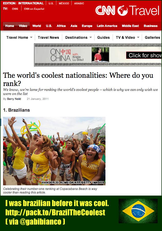 Brasil, o país mais legal do mundo, segundo a CNN Travel