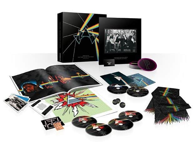 Pink  Floyd, The Dark Side of The Moon Immersion Box Set, caixa incrível com CD, DVD, Blu-Ray, Livros e presentinhos para colecionadores e fãs