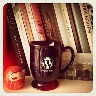 Wordpress 10 anos - Caneca Wordpress e livros diversos