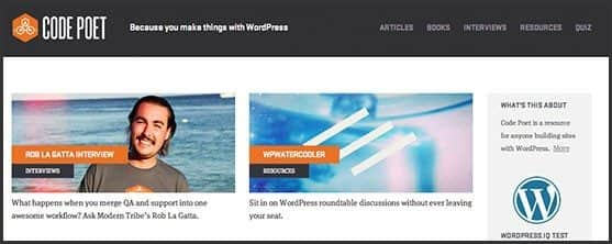 Wordpress 10 anos - 10 outros produtos Automattic e WordPress Foundation: Code Poet