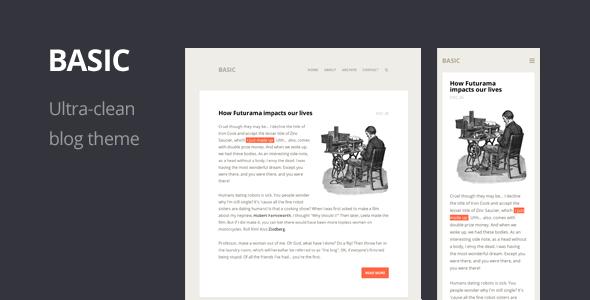Wordpress 10 anos - 10 temas/templates de WordPress: Basic