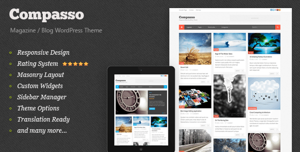 Wordpress 10 anos - 10 temas/templates de WordPress: Compasso