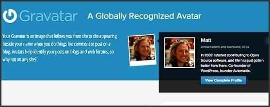Wordpress 10 anos - 10 outros produtos Automattic e WordPress Foundation: Gravatar