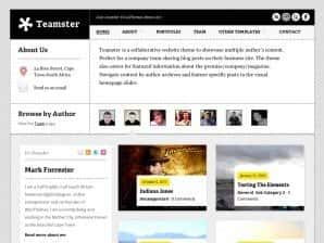 Wordpress 10 anos - 10 temas/templates de WordPress: Teamster