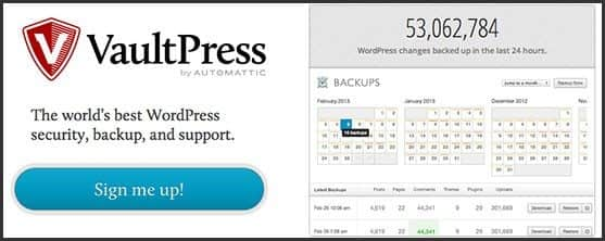 Wordpress 10 anos - 10 outros produtos Automattic e WordPress Foundation: Vaultpress