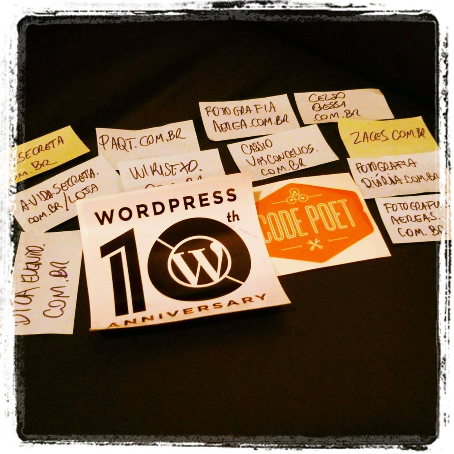Wordpress 10 anos: 10 projetos, sites e blogs que participo