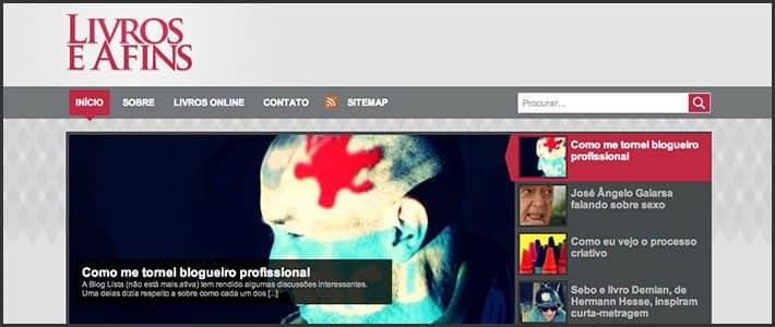 Wordpress 10 anos - 10 sites e blogs bacanas: Livros e Afins.