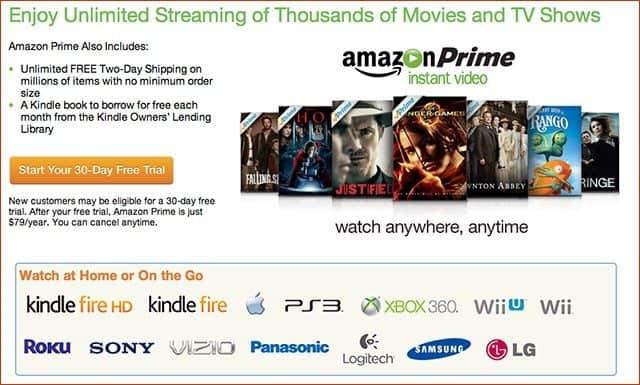 Amazon Prime: 40.000 Filmes, séries e livros por apenas 79 dólares ao ano