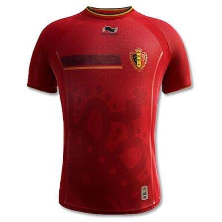 Camisa da seleção belga de futebol.