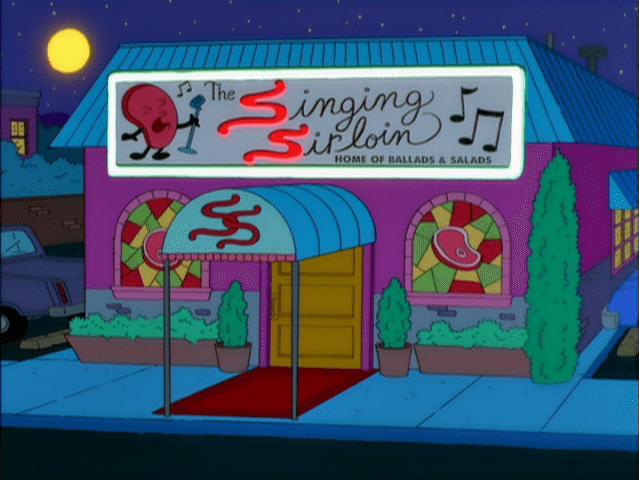 Chuleta Cantante, restaurante fictício de Os Simpsons