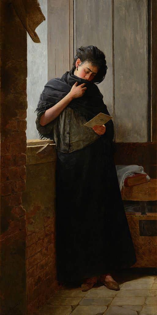 Saudade, pintura de Almeida Júnior