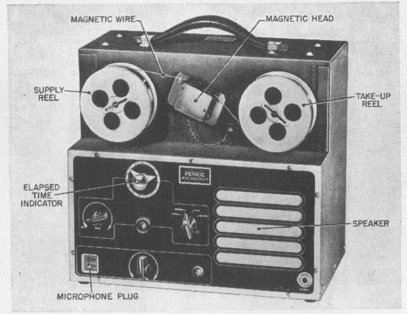 Gravador de Fio Magnético