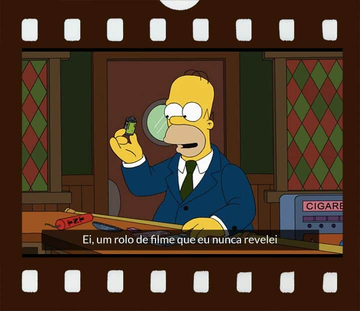 Homer com filme na mão!