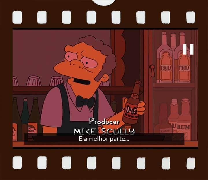 Moe pegar uma garra de cerveja Duff