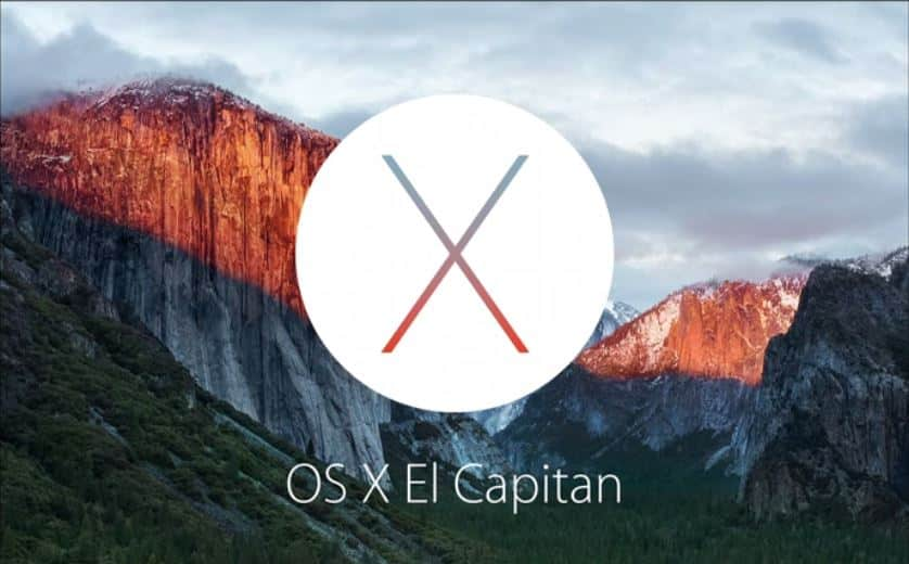 Tela do MacOs X - El Capitan