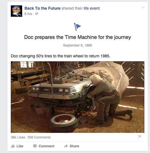 Linha do tempo de De Volta para o Futuro celebra evento temporal do Doutor Brown