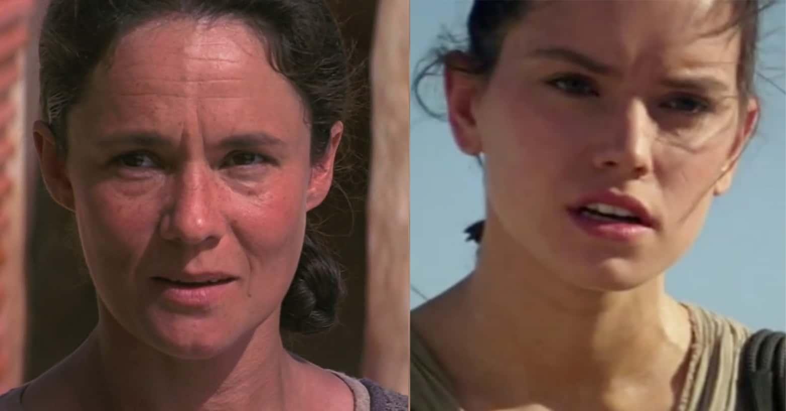 Dois retratos de mulheres semelhantes