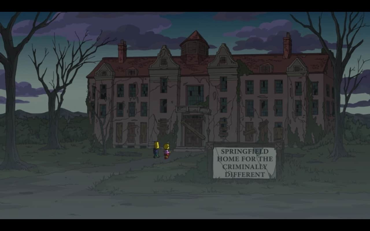 Asilo para os criminalmente diferentes em Os Simpsons