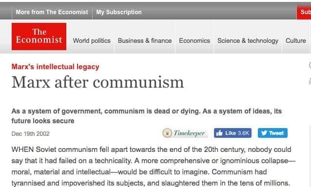 O Legado Intelectual de Marx (The Economist)