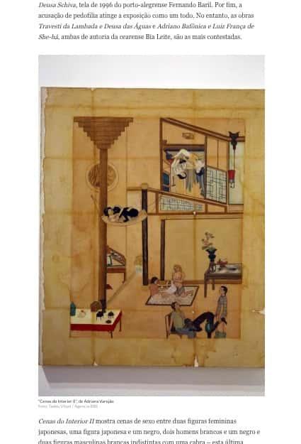 Ilustração de casa com duas mulheres japonesas, uma pessoa japonesa e um negro, dois homens brancos e um negro, e dois homens brancos com uma cabra